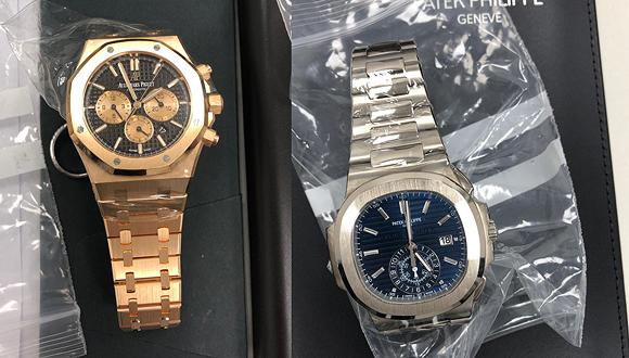 2 מהשעונים שהוברחו, צילום: דוברות רשות המסים