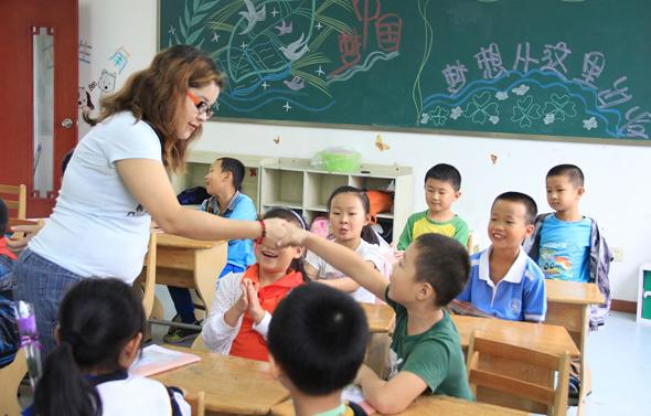שיעור אנגלית בסין