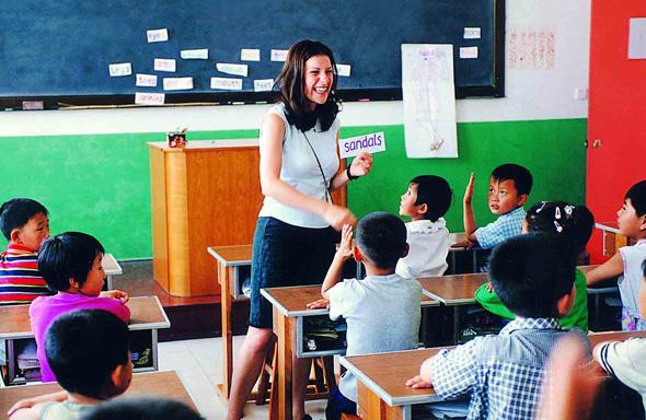 מורה לאנגלית בסין