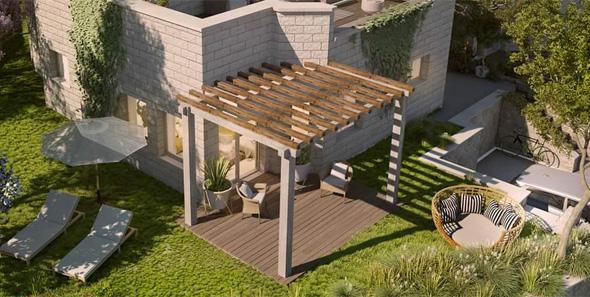 """בית בפרויקט """"נוף השקד"""". מרחבים ירוקים ויישוב מתפתח"""