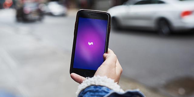 אפליקציית שירות הנסיעות ליפט (Lyft), צילום: בלומברג