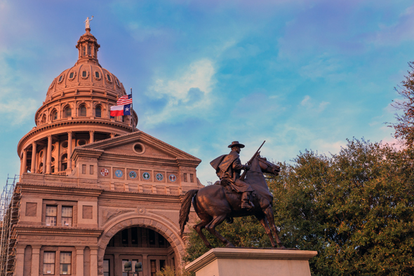 The Texas State Capitol in Austin. Photo: Shutterstock