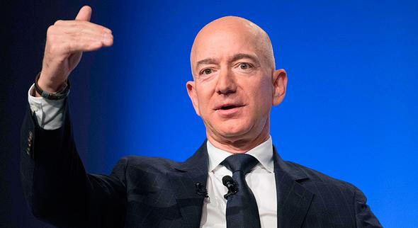 """ג'ף בזוס מייסד ומנכ""""ל אמזון הכי עשיר בעולם, צילום: איי אף פי"""