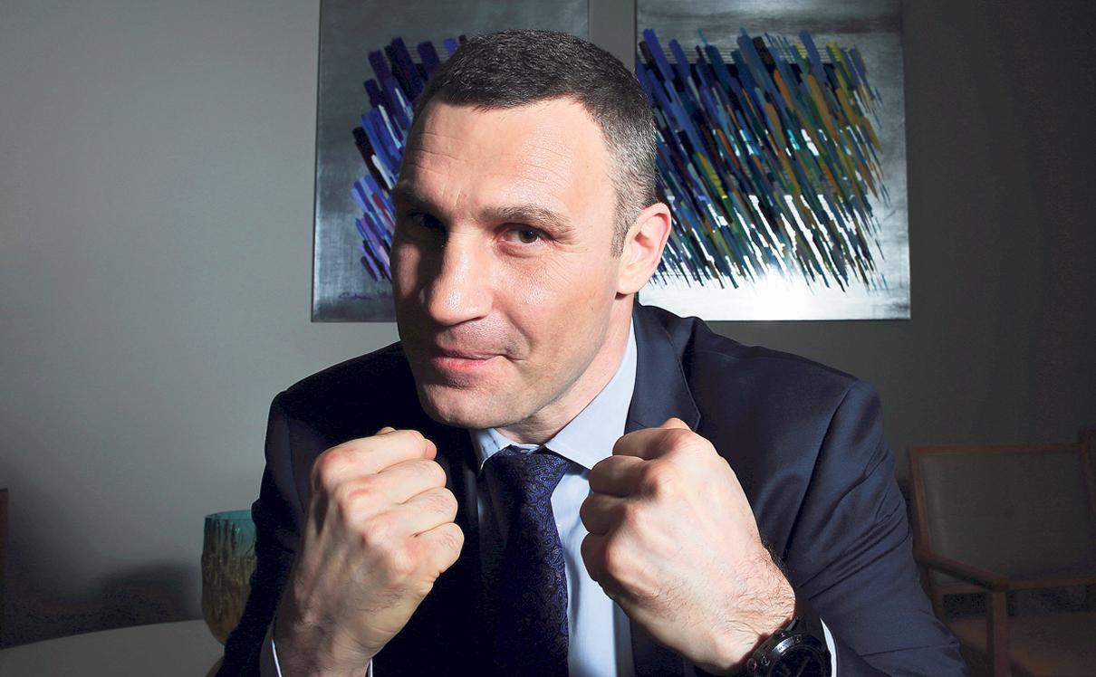 מוסף שבועי 7.3.19 ולדימיר קליצקו מתאגרף לשעבר וראש עיריית קייב היום , צילום: ריאן פרויס