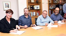 ההסכם בפרטנר, צילום: דוברות ההסתדרות