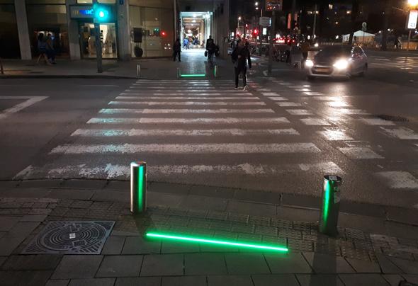 Les nouvelles lumières de rue piétonnes. Photo: Lilach Baumer