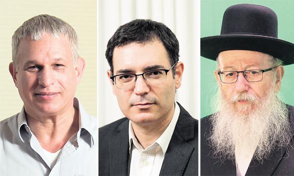 """מימין: יעקב ליצמן, משה בר סימן טוב וד""""ר חן קוגל"""