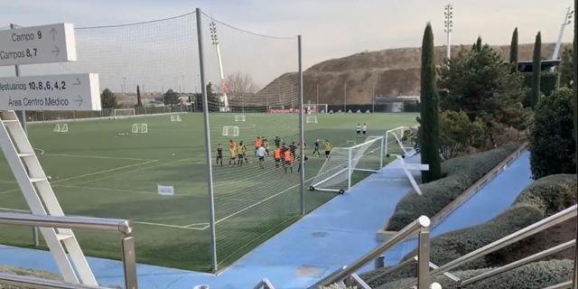 אימון של הנוער של ריאל מדריד.  מחפשים מוסר עבודה גבוה, צילום: אסף שטנגל