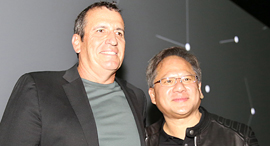 Mellanox CEO Eyal Waldman (left), Nvidia CEO Jensen Huang. Photo: Yaniv Kantor