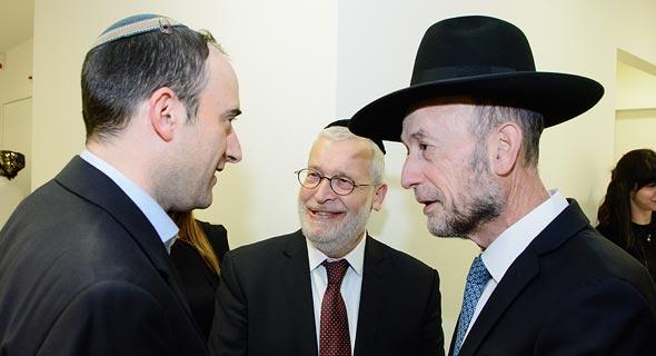 Brix CEO Moshe Wieder with MK Uri Maklev. Photo: Dave Morgenstern