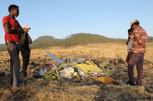 שברי המטוס של אתיופיאן איירליינס שהתרסק השבוע, צילום: גטי