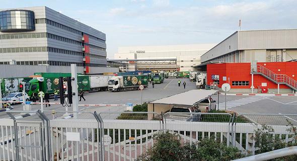 המרכז הלוגיסטי בשוהם, הבוקר, צילום: ועד העובדים