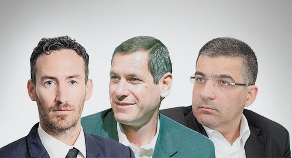 """מימין: יעקב אטרקצ'י בעלי אאורה, ארנון פרידמן מנכ""""ל אשדר ועו""""ד ארנון יהב"""