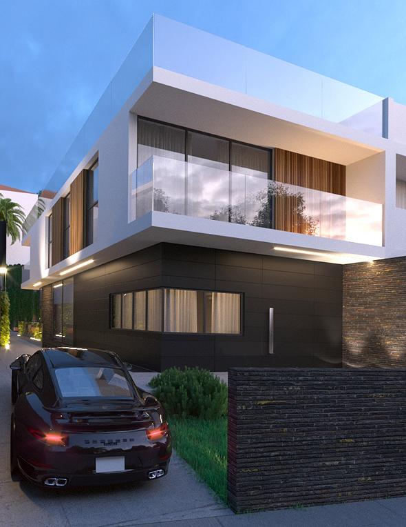 תכנון בית פרטי במרכז הארץ, הדמיה: עידו אדן