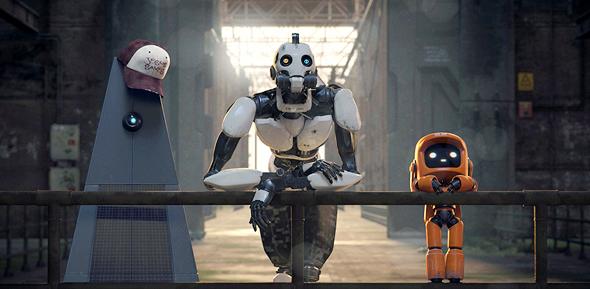 """""""שלושה רובוטים"""". מערכון קומי צולע, צילום באדיבות: netflix"""