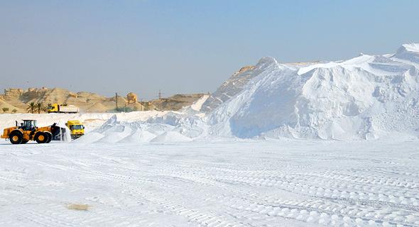 אתר להפקת אשלג שמפעילה כיל ליד ים המלח, צילום: גיא אסיאג