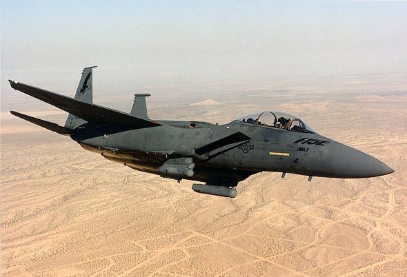 מטוס ה-F15E הראשון שנמסר לחיל האוויר האמריקאי
