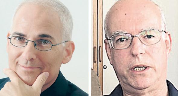 מימין פרופ' אריאל פורת ו אלי גלמן מנכל אמדוקס, צילום: יוטיוב, איציק שוקל