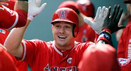 מייק טראוט שחקן בייסבול, צילום: איי פי