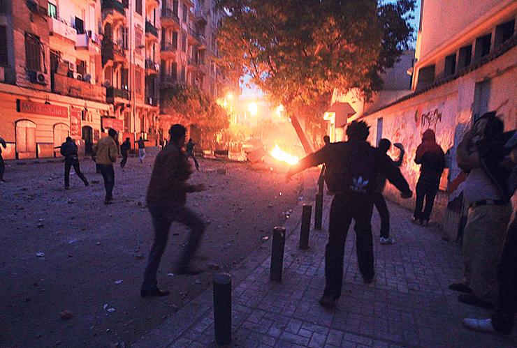"""מהומות בכיכר תחריר, 2011. """"את מה שקרה במצרים לא יכולתי לצפות. גם מערכת הביטחון לא צפתה, ולא מובארכ ולא ה־CIA"""", צילום: איי אף פי"""