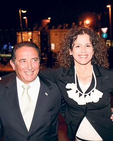 מימן עם אשתו הלית בן ישראל, צילום: בועז אופנהיים
