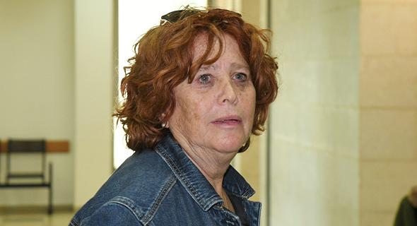 אילנה גנור אשתו של מיקי גנור הארכת מעצר 20.3.19 תיק 3000 פרשת הצוללות, צילום: יאיר שגיא