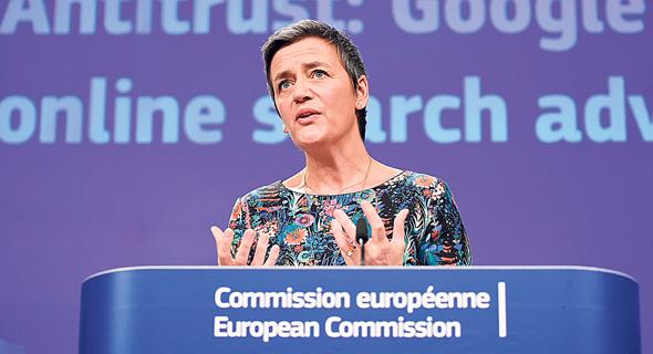 נציבת התחרות באיחוד האירופי מגרטֶה וסטגר, היום בבריסל