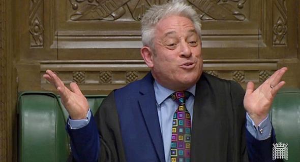 """ג'ון ברקו יו""""ר הפרלמנט הבריטי ברקזיט, צילום: רויטרס"""
