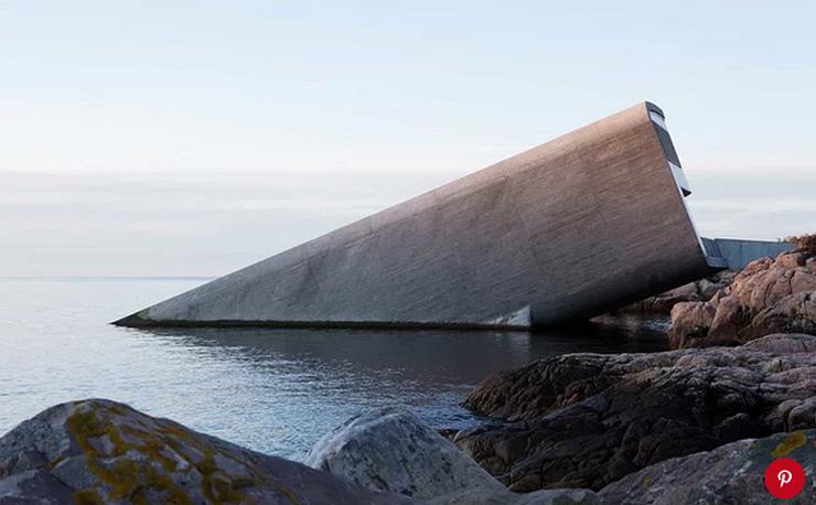 מסעדה מתחת למים, צילום: Marie Grini/Bo Bedre Norge/pinterest