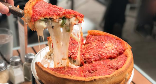 Chicago deep dish pizza. Photo: Shutterstock