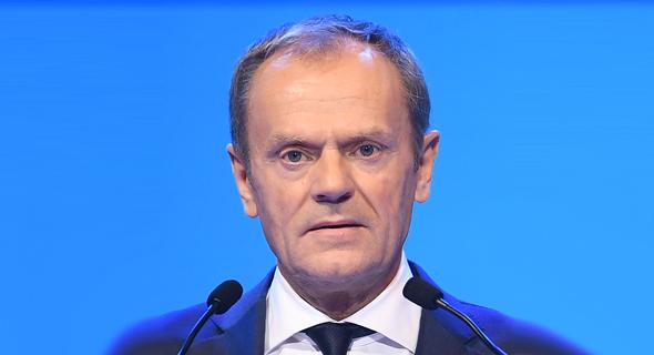 נשיא המועצה האירופית דונלד טאסק. הפעם השלישית שבריטניה מבקשת עוד זמן
