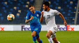 נבחרת ישראל נגד סלובניה בכדורגל, צילום: איי אף פי
