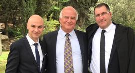 """מימין יו""""ר המחוז עו""""ד חאלד זועבי עם כב' השופט ראיד עומרי וכב' השופט אדהם, צילום: למחוז הצפון בלשכת עוה""""ד"""