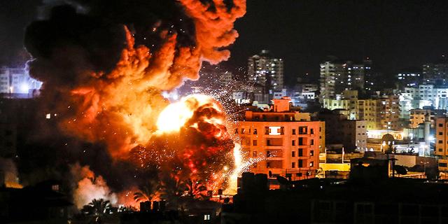 התקיפה בעזה, אמש, צילום: איי אף פי