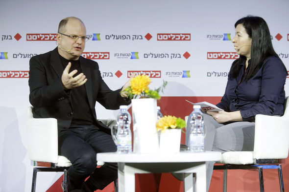 Checkpoint CEO Gil Shwed in a 2019 interview with Sophie Shulman. Photo: Amit Shaal