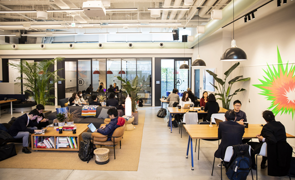 WeWork's shared office space. Photo: Bloomberg