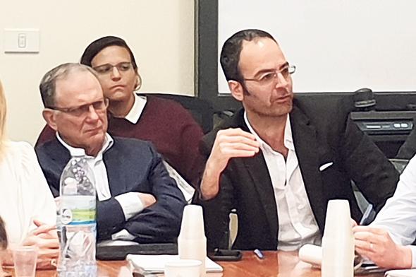 """מימין: מנכ""""ל בי־קום עמי ברלב והיו""""ר שלמה זוהר, צילום: יניב רחימי"""