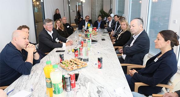 Michael Corbat (third from left) meeting with Israeli tech luminaries. Photo: PR