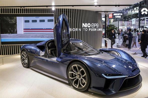 מכונית אוטונומית חשמלית של חברת nio הסינית, צילום: בלומברג