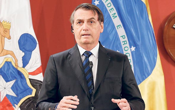 נשיא ברזיל ז'איר בולסונארו