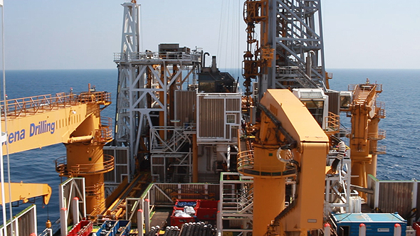 An Energean drilling platform, Karish. Photo: Orel Cohen