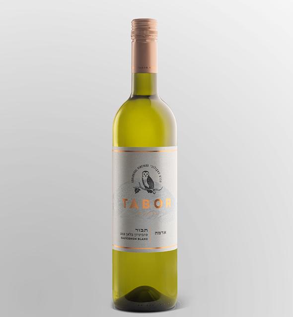בקבוק יין סוביניון בלאן אדמה של תבור פנאי, צילום: איה בן עוזרי