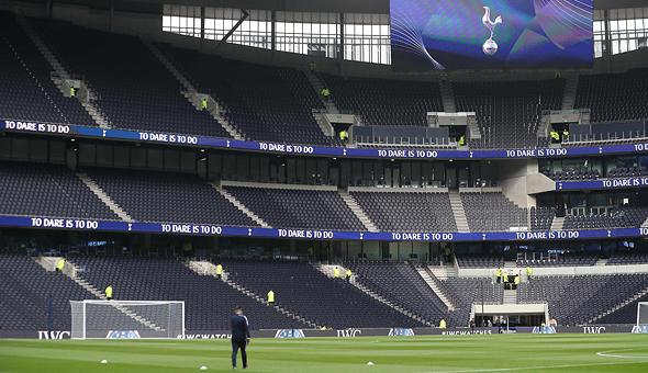 היציע הגדול באצטדיון החדש של טוטנהאם. 17 אלף מקומות