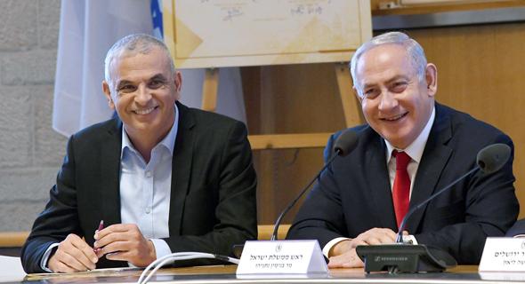 ראש הממשלה בנימין נתניהו ושר האוצר משה כחלון, צילום: חיים צח