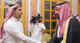 יורש העצר ה סעודי מוחמד בן סלמאן ו סלאח חשוקג'י, צילום: אי פי איי