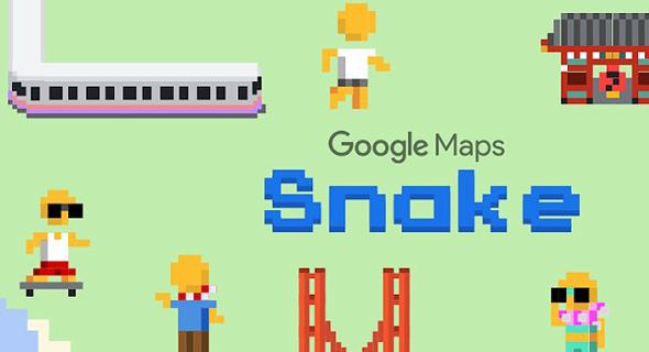 סנייק רכבות בגוגל Maps, google maps