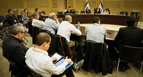 Lobbyists at the Knesset. Photo: Miki Alon