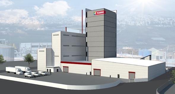 הדמיית המפעל. על שטח של 16 דונם, הדמיה: לוטן אדריכלים