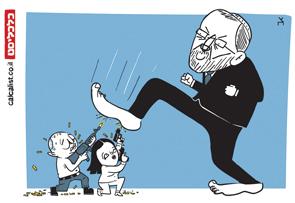 קריקטורה 8.4.19, איור: צח כהן