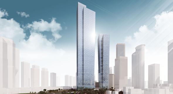 הדמיה מגדל 120 בורסה רמת גן, צילום: ישר אדריכלים